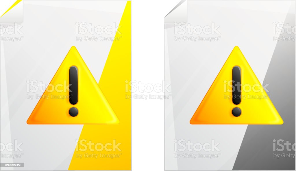 File Alert royalty-free stock vector art
