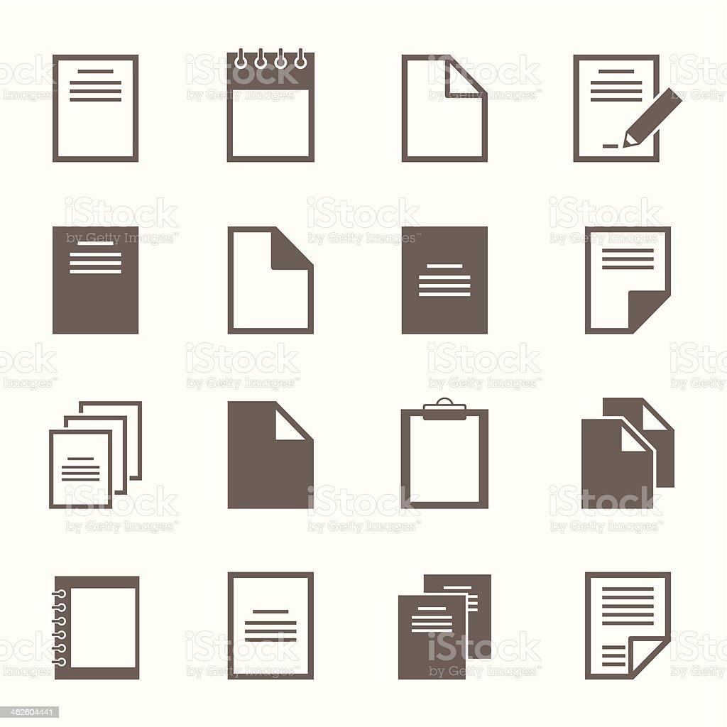 File an icon vector art illustration