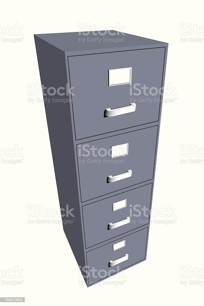 File cabinet closed. royalty-free stock vector art