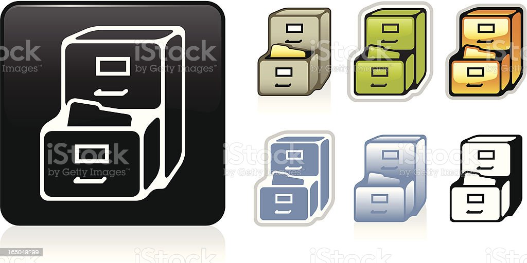File Cabinet Icon royalty-free stock vector art