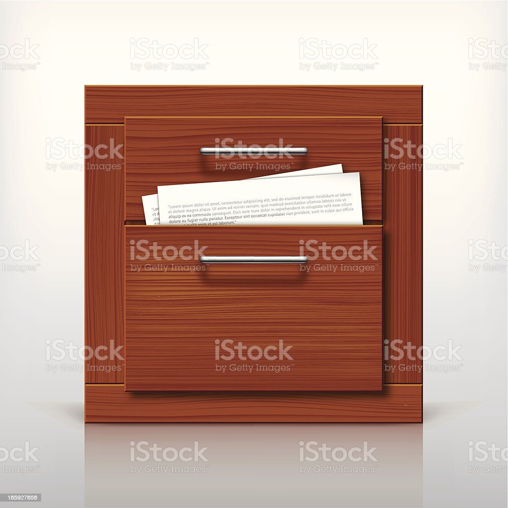 File cabinet royalty-free stock vector art