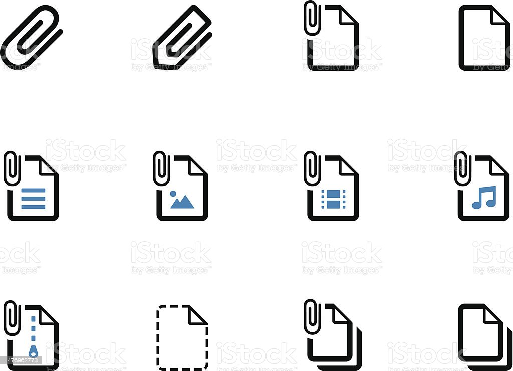 File Clip duotone icons on white background. vector art illustration