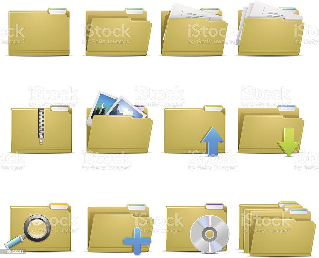 File Folder Icons royalty-free stock vector art