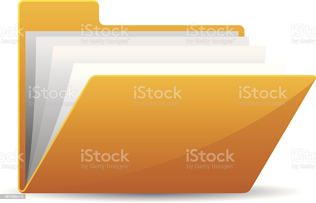 File Folder vector art illustration