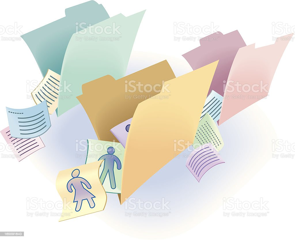 file folders royalty-free stock vector art