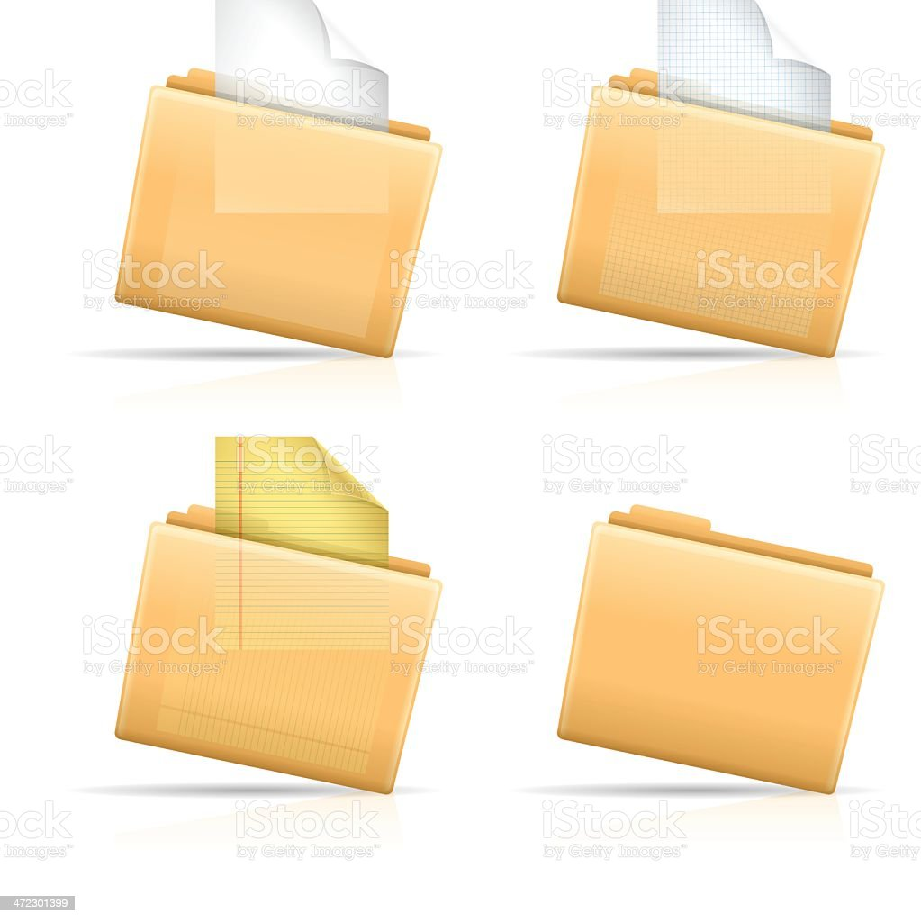 File Folders vector art illustration