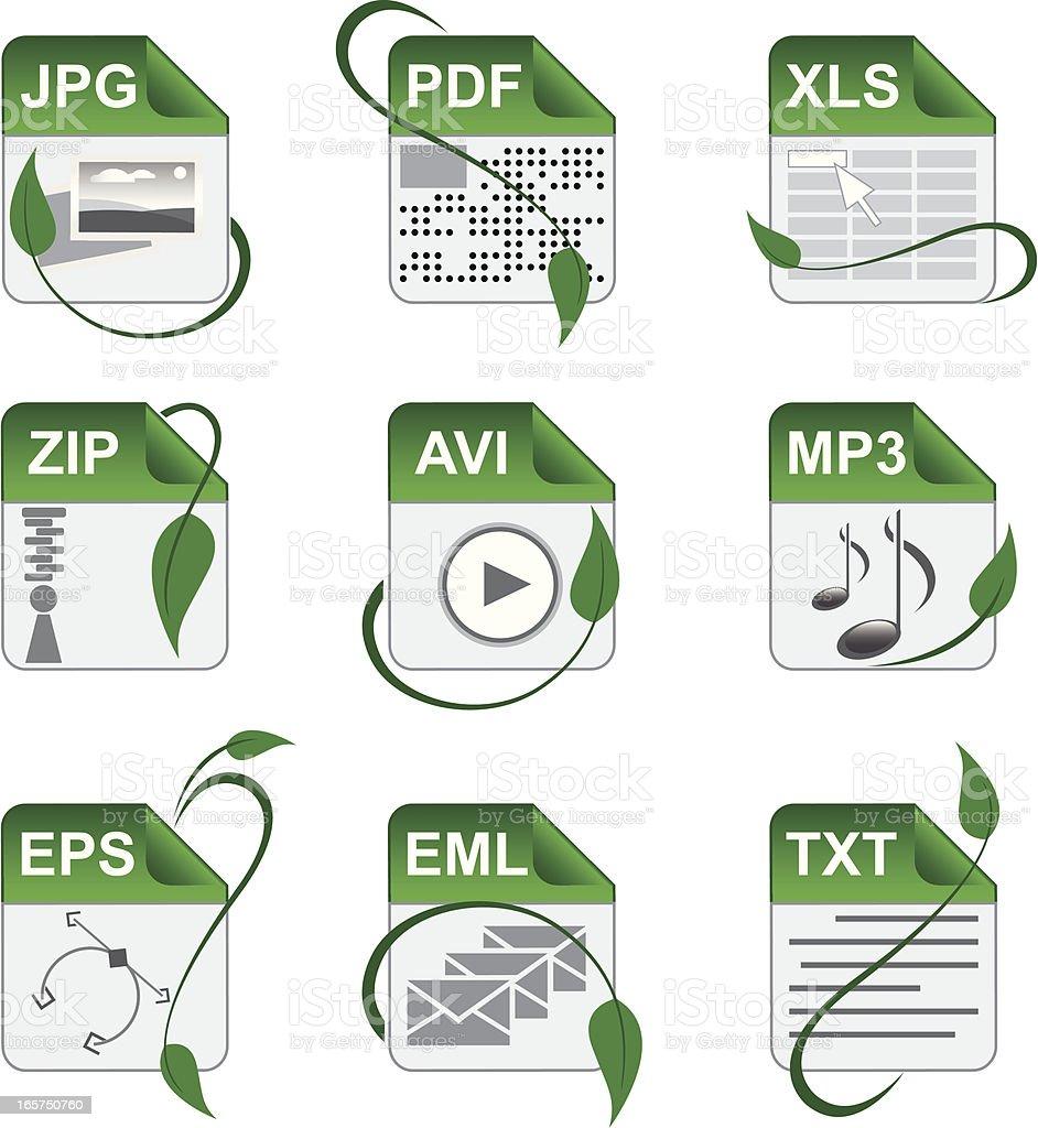 File format symbols royalty-free stock vector art