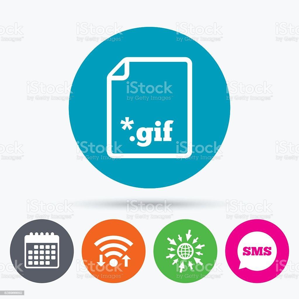 File GIF sign icon. Download image file. vector art illustration