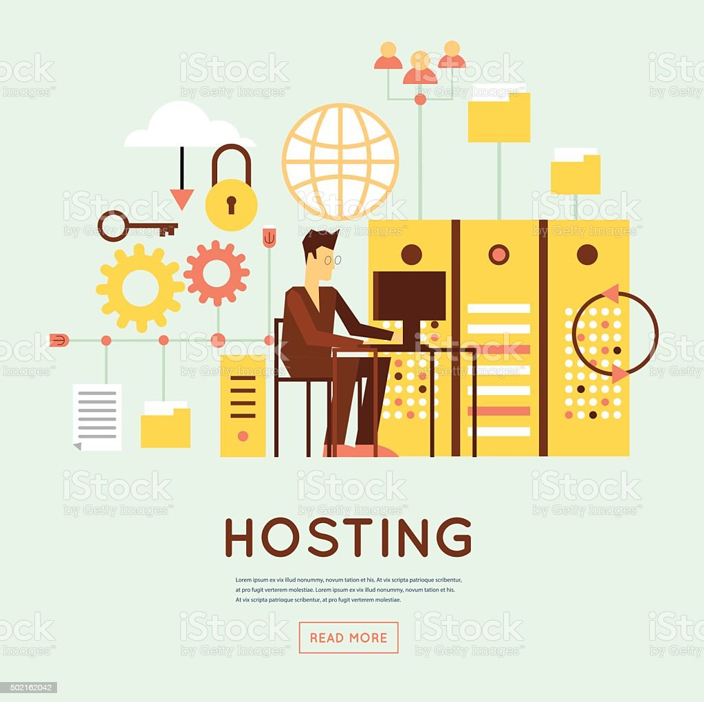 File hosting vector art illustration