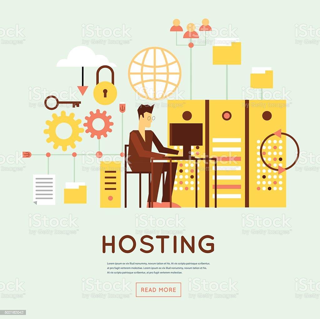 File hosting vector art illustration