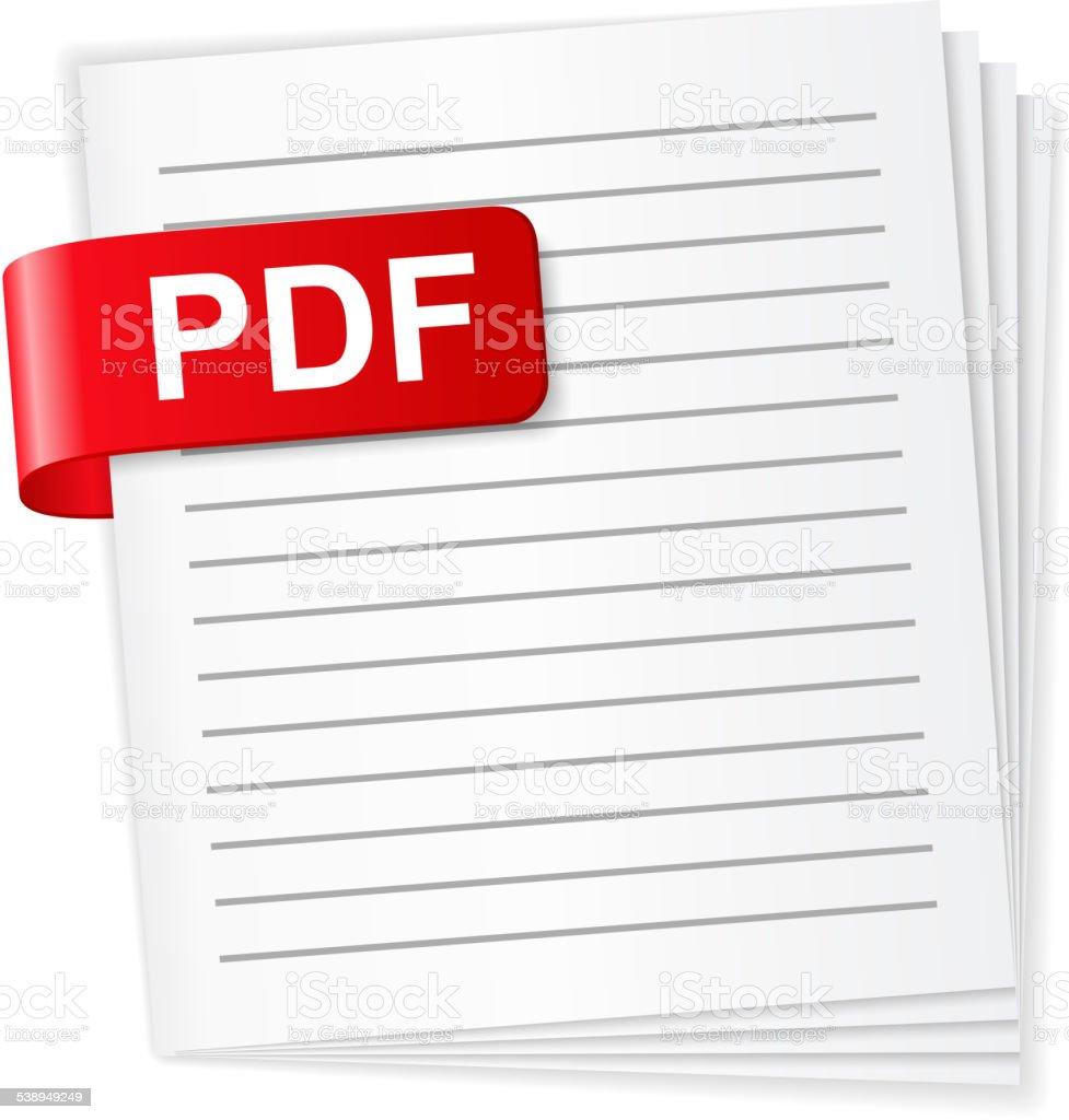 PDF File Icon vector art illustration
