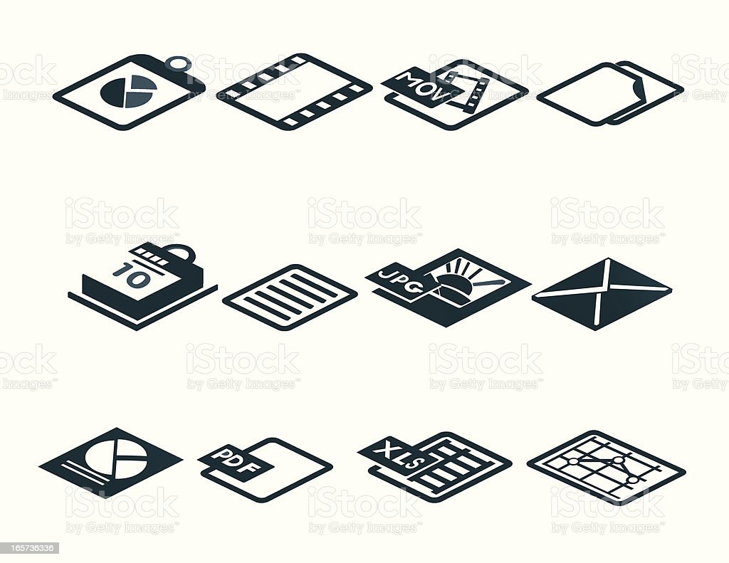 File Icons and Symbols royalty-free stock vector art