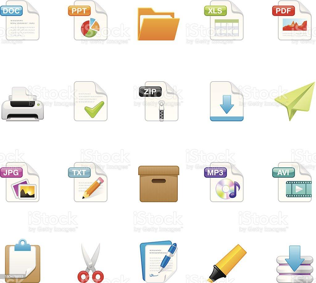 File icons | set 9 vector art illustration