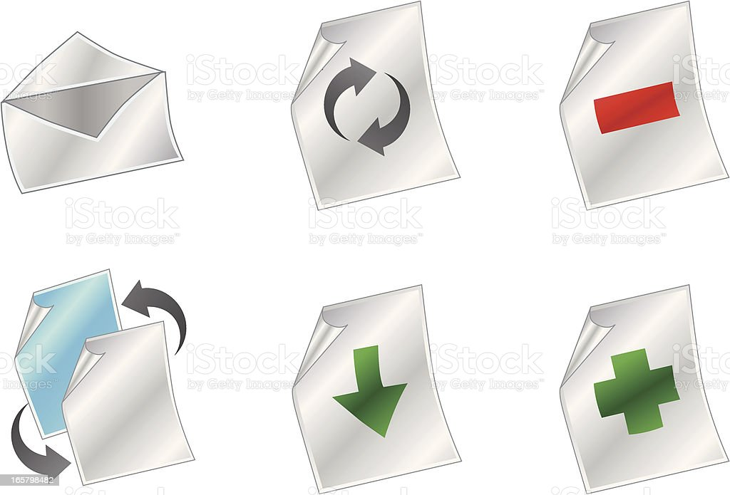 File Icons royalty-free stock vector art