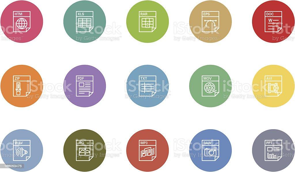 File icons vector art illustration