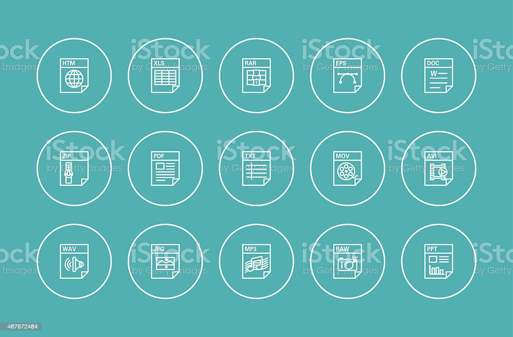 file icons vector art illustration