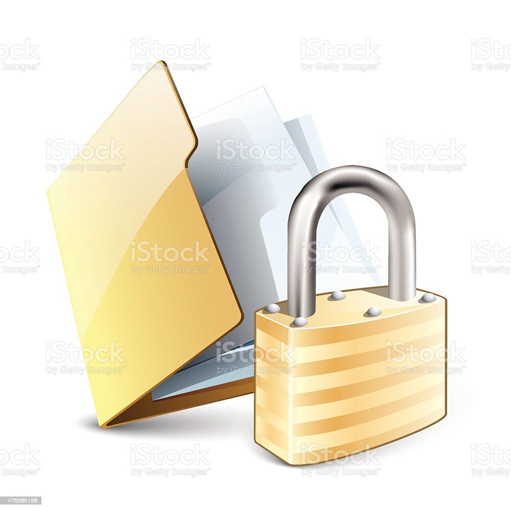 File lock vector art illustration