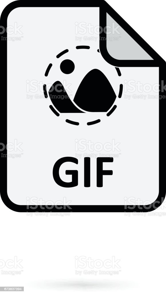 GIF file on white background vector vector art illustration