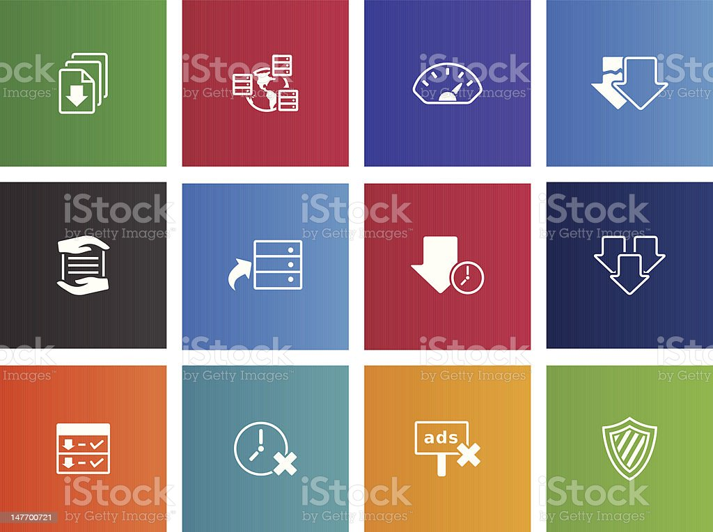File Sharing Icons vector art illustration