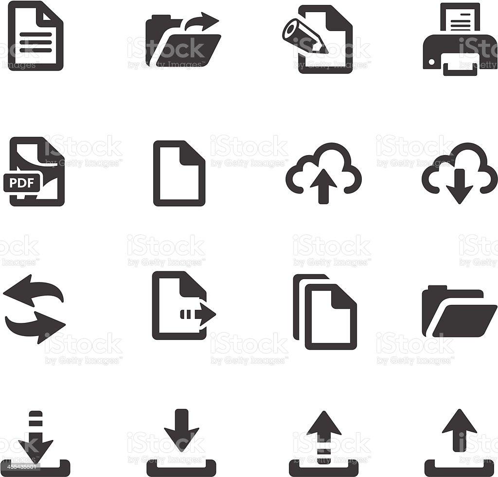 File Transfer Symbols royalty-free stock vector art