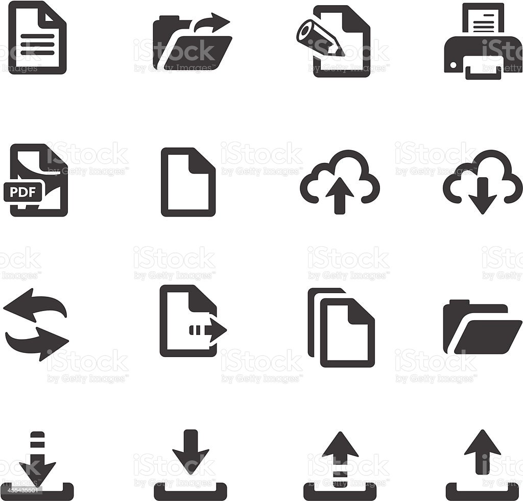 File Transfer Symbols vector art illustration
