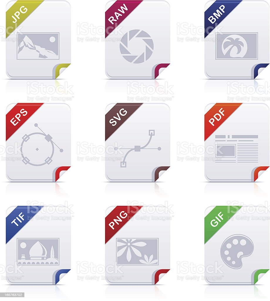 File type icons: Graphics vector art illustration