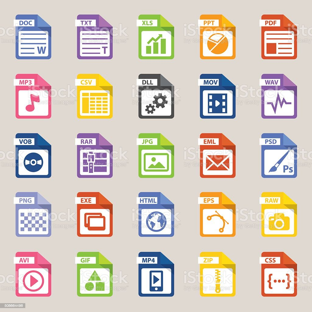 File types icon royalty-free stock vector art
