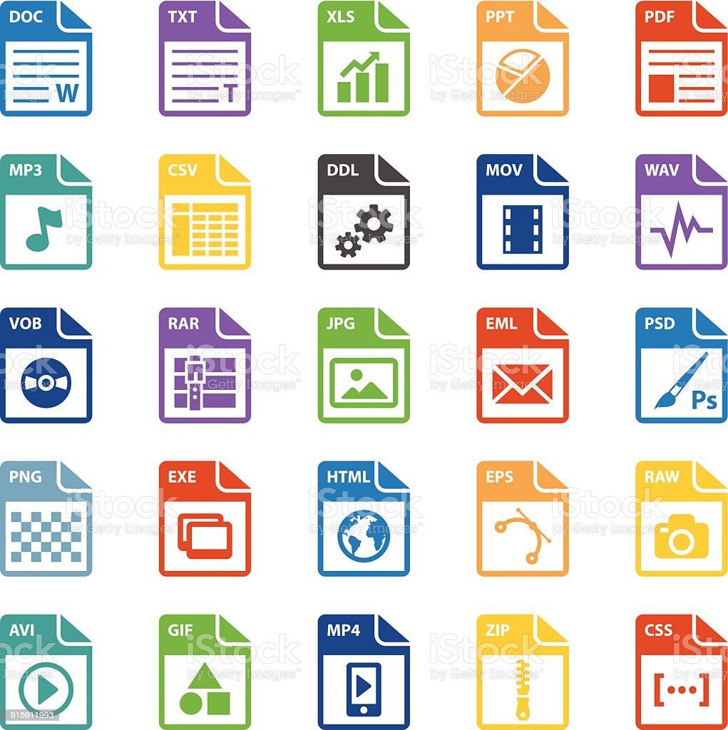 File types icon vector art illustration