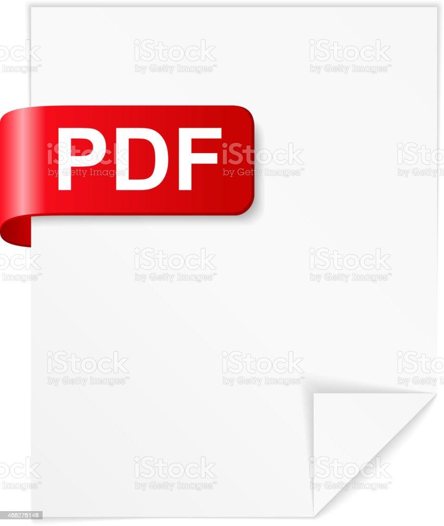 PDF File vector art illustration