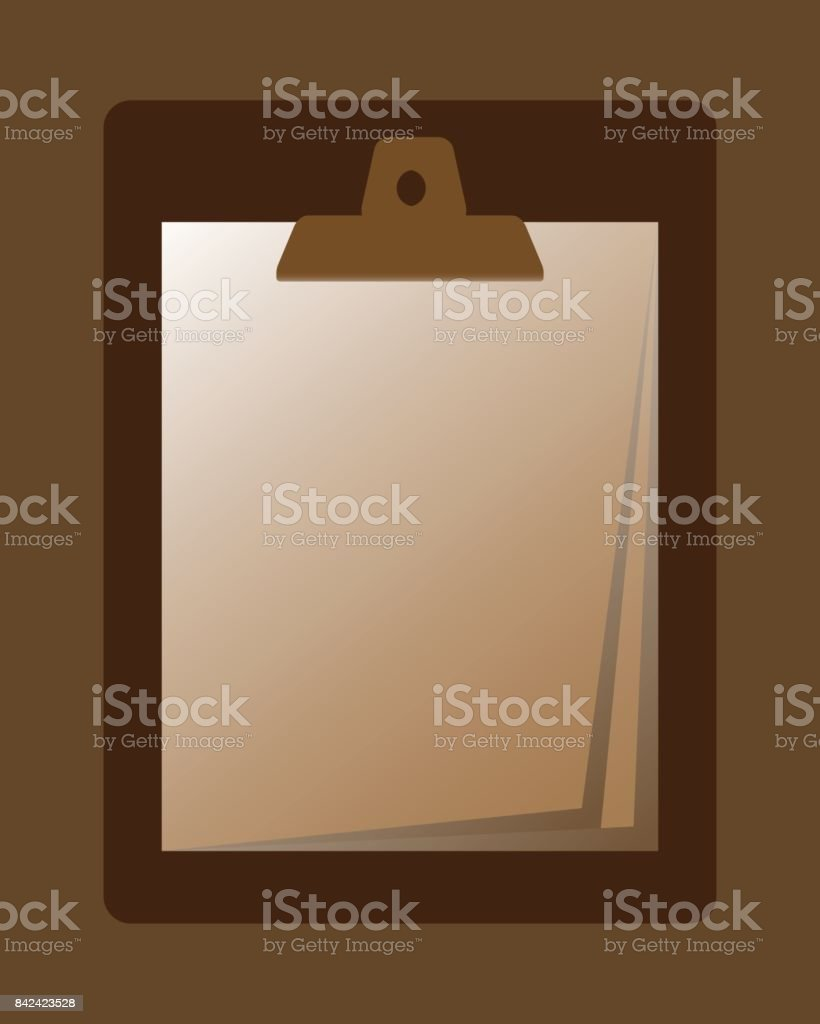 Files and documents used to sign. vector art illustration