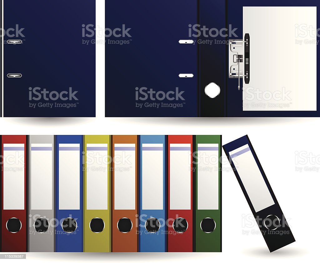 Files and Folders in Vector vector art illustration