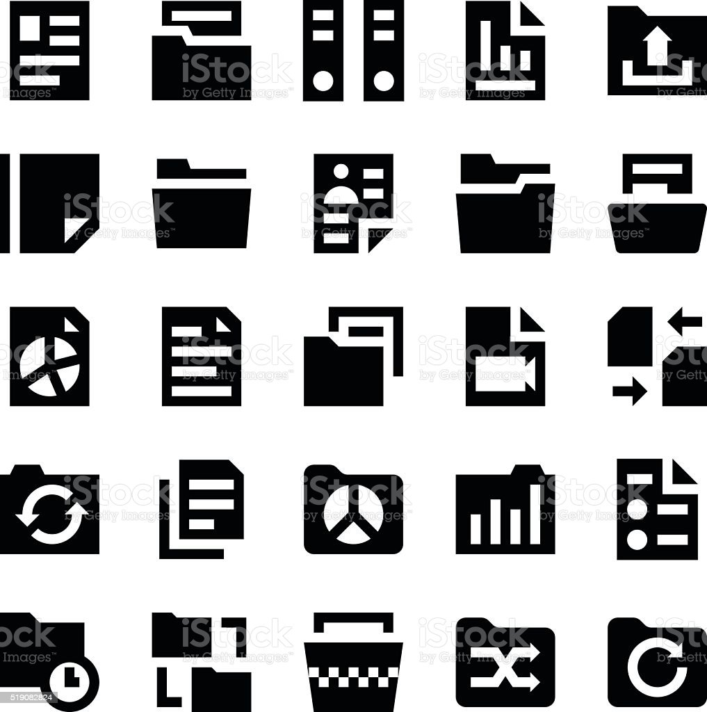 Files and Folders Vector Icons 2 vector art illustration