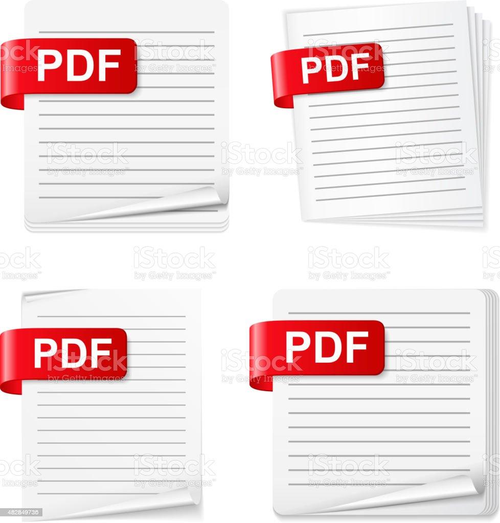 PDF Files vector art illustration