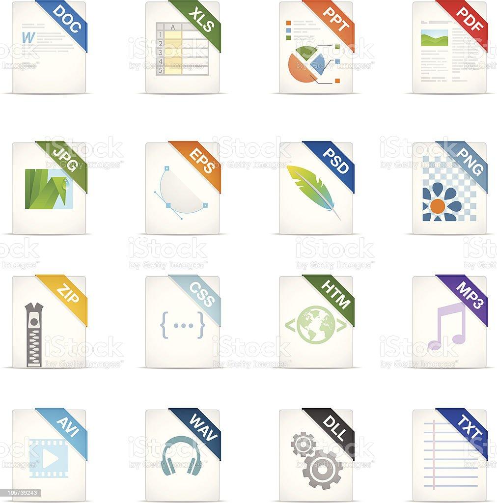 Filetype icons vector art illustration