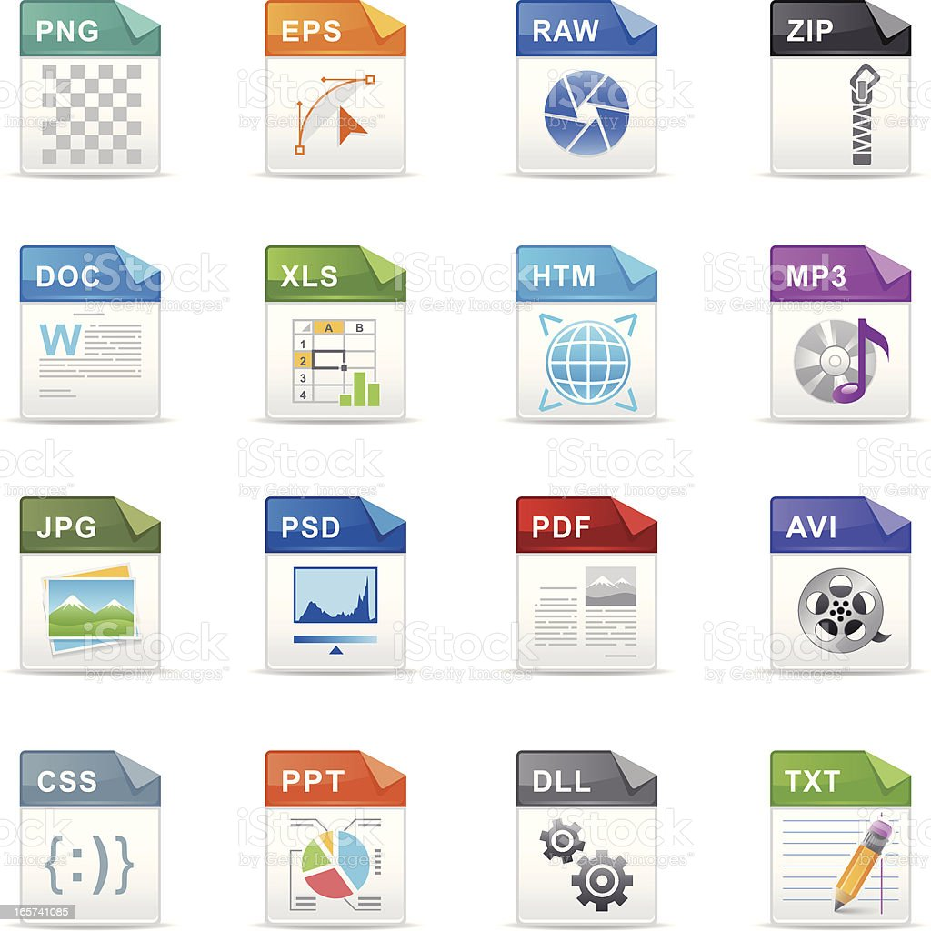Filetype Icons royalty-free stock vector art