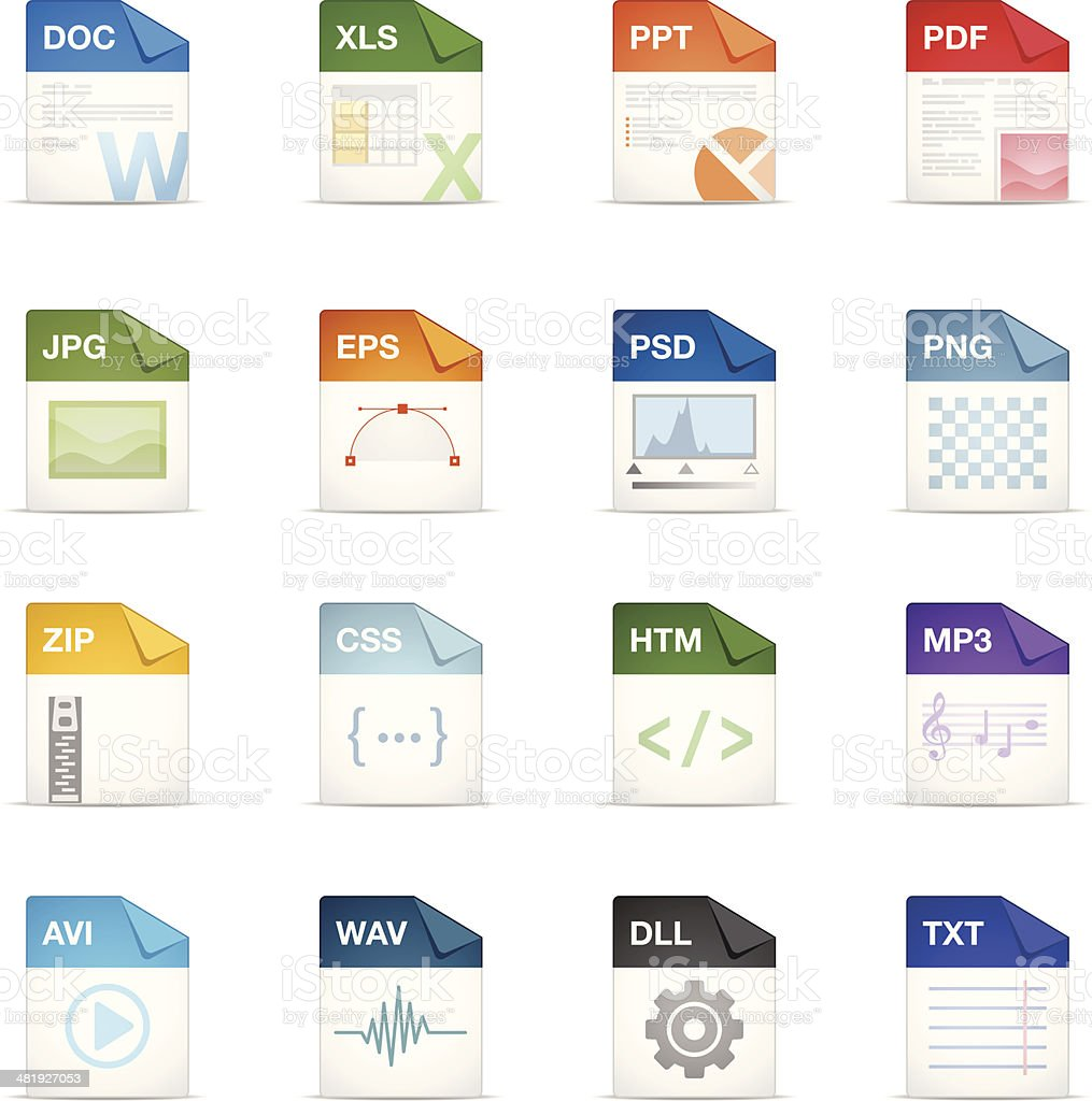 Filetype Icons vector art illustration
