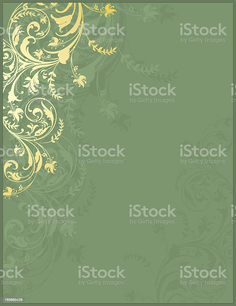 Filigree Green Banner royalty-free stock vector art