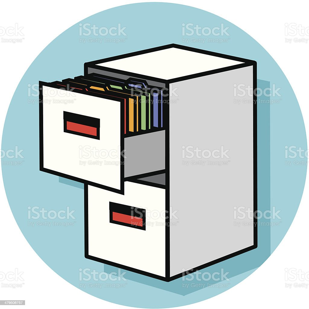 filing cabinet icon royalty-free stock vector art