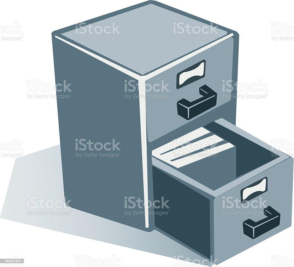 Filing Cabinet royalty-free stock vector art