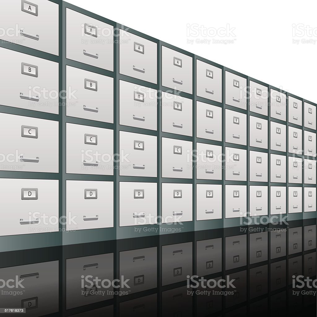 Filing Cabinets Background vector art illustration
