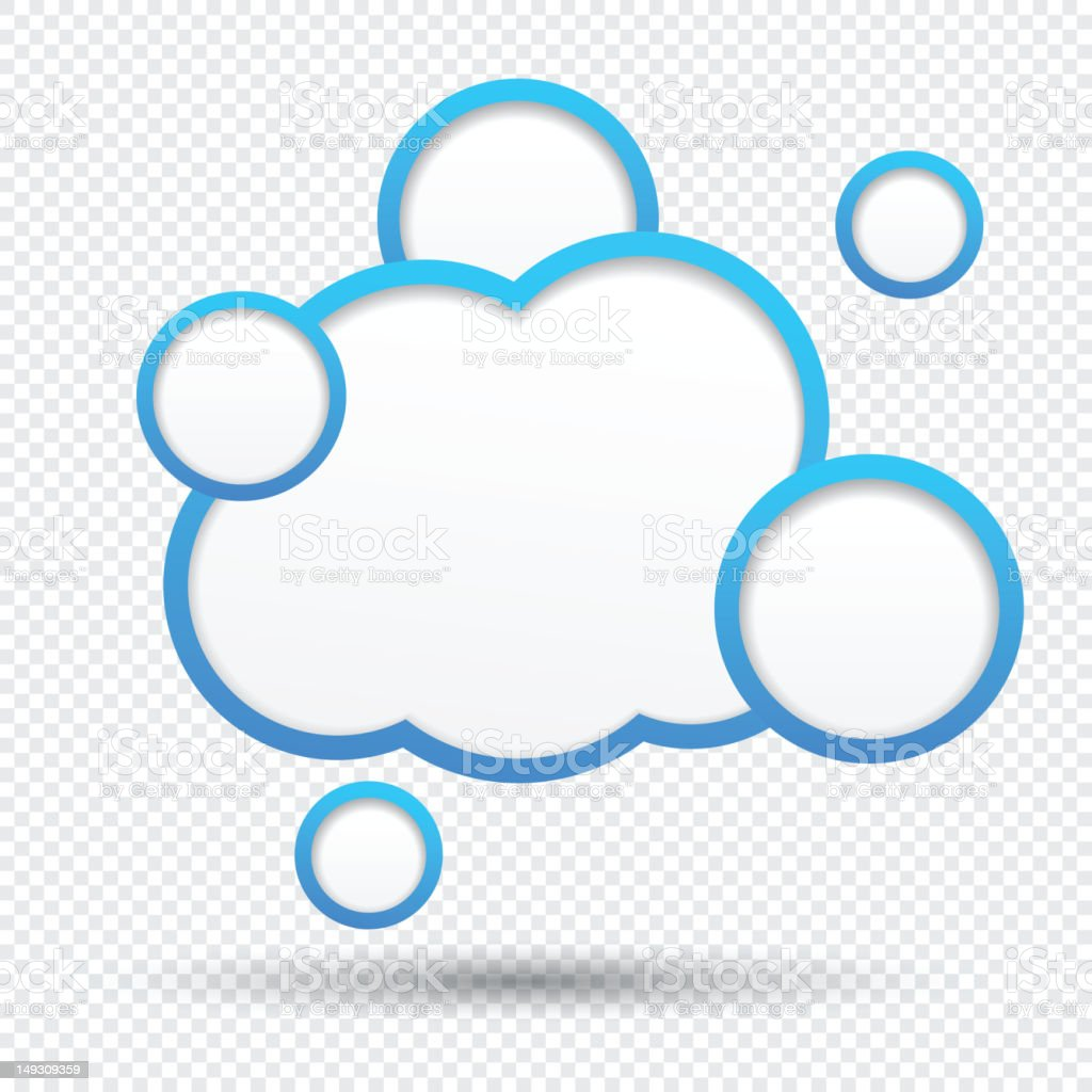 Fill in your own cloud speech bubbles template royalty-free stock vector art