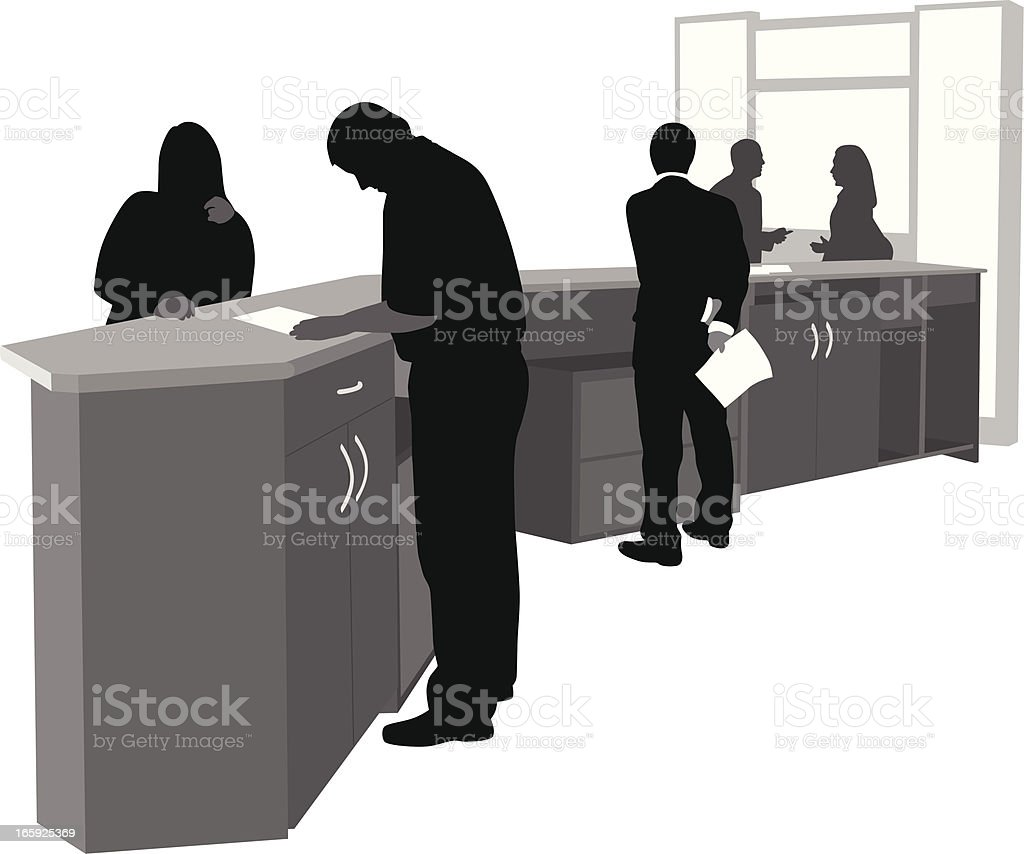 Filling In Forms Vector Silhouette royalty-free stock vector art