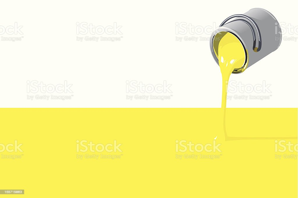 Filling paint can vector art illustration
