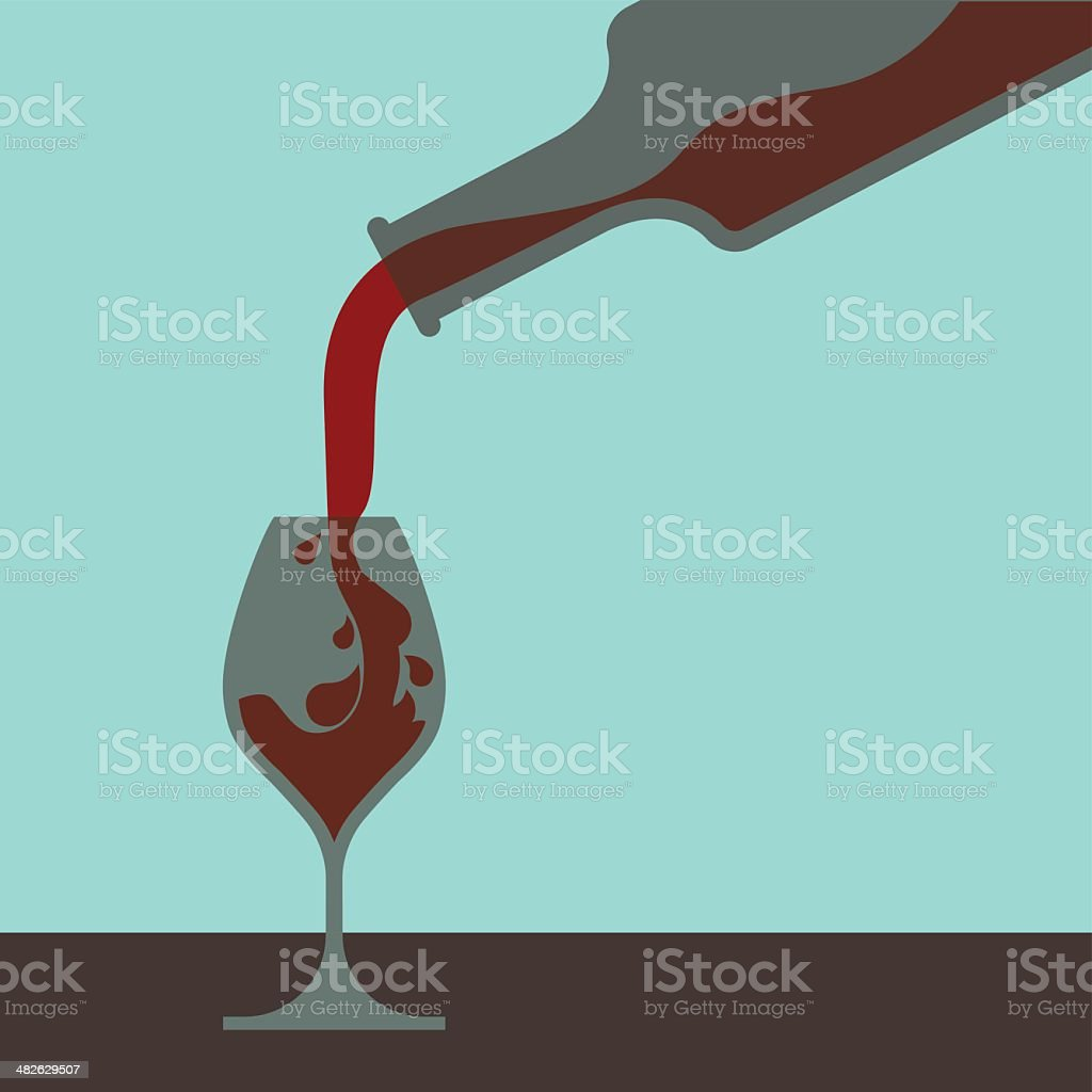 FillingGlass vector art illustration