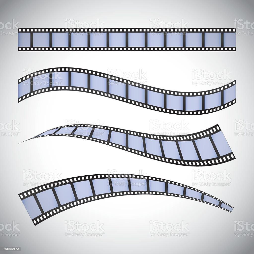 Film and cinema icons vector art illustration