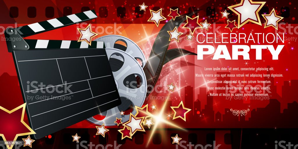 Film and Entertainment Background royalty-free stock vector art