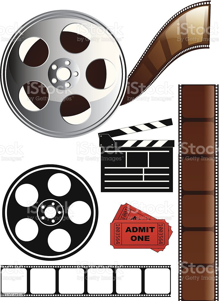 Film and Movie Icon Set royalty-free stock vector art