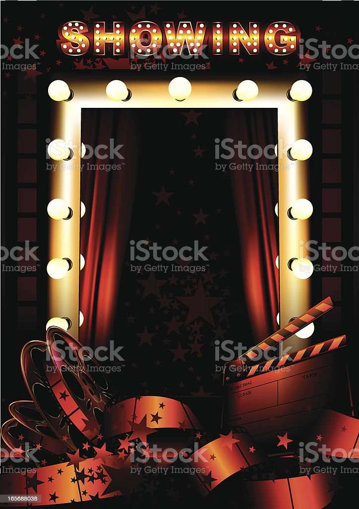 Film Backgrounds royalty-free stock vector art