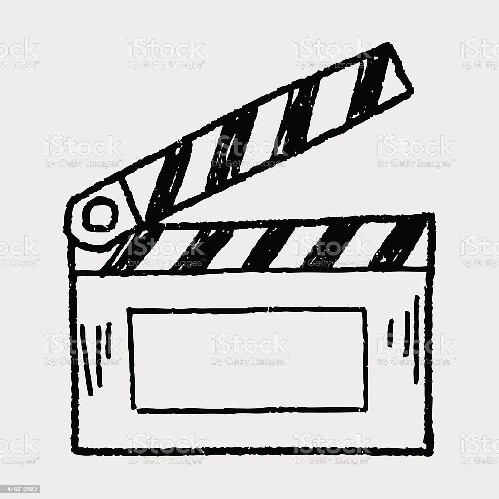 film board doodle vector art illustration