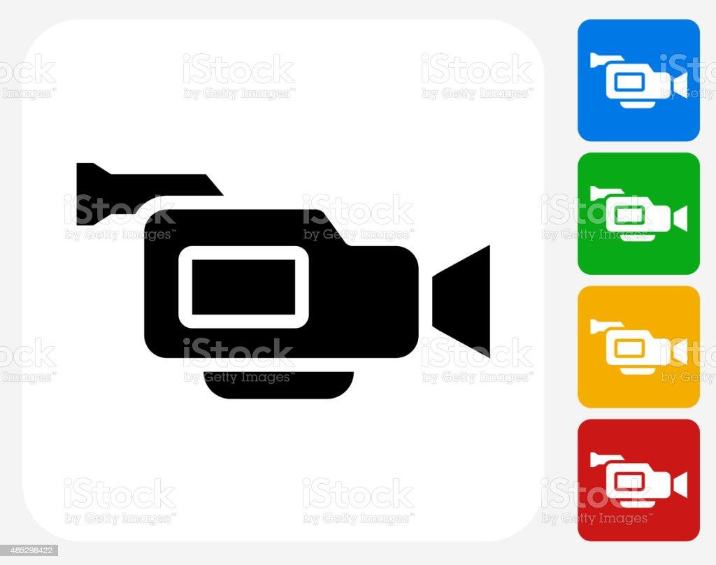 Film Camera Icon Flat Graphic Design vector art illustration